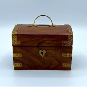 Treasure Chest Coin Bank w/ Golden Accents